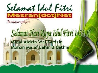 Selamat Hari Raya Idul Fitri 1433 H