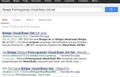 Belajar Pemrograman Visual Basic dot net