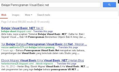 Belajar Pemrograman Visual Basic net